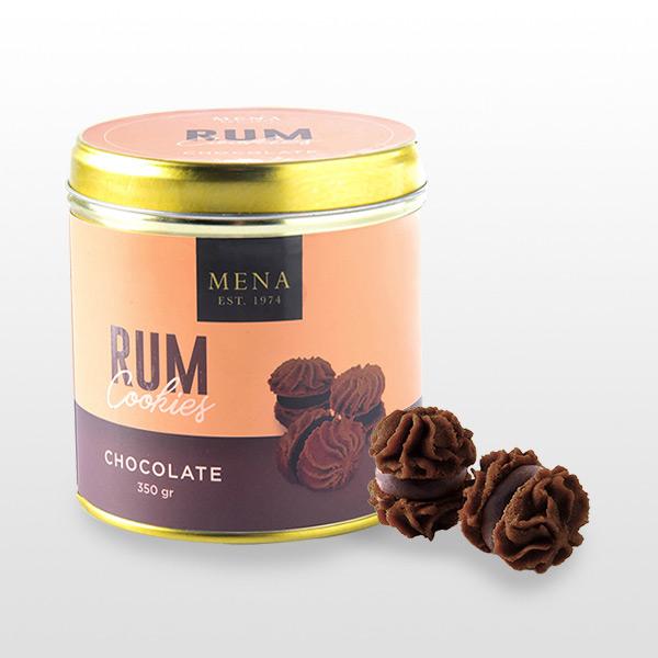 Rum Cookies Chocolate - Mena Cookies